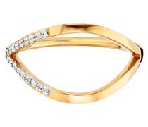 Ring 925/- Sterling Silber vergoldet Topas, 58