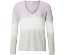 Pullover, leichter V-Ausschnitt, gerippte Abschlüsse,
