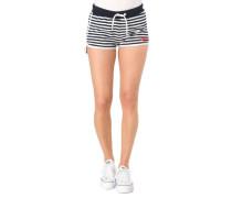 Shorts, Metallic-Streifen-Details, Gummibund, Logo-Stickerei