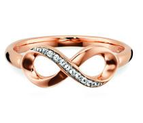 Ring 5/- Sterling Silber vergoldet Topas