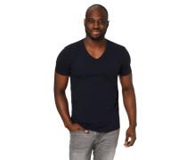 Tom Taior Denim T-Shirt V-Ausschnitt Brusttasche Baumwoe