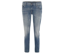"""Jeans """"Russo"""", Tapered Fit, Falten-Optik, Used-Look,"""