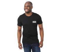 T-Shirt Slim Fit Baumwolle Logo-Schriftzug Ripp-Blende