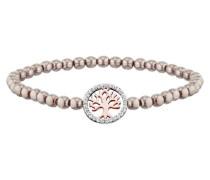 Armband Perlen Platin Baum Rotvergoldet  Zirkonia JJBR10197.2.48