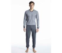 Herren, Bündchen-Pyjama Relax treamline