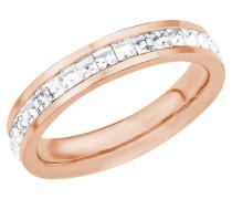 Ring 18552 mit Swarovski Kristallen rosé Edelstahl