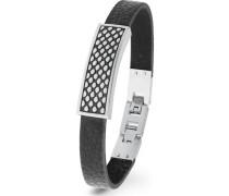 Armband Leder/Edelstahl
