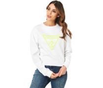 Sweatshirtogo-Front, cropped, für Damen, TWHT PUR