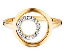 Ring 925/- Sterling Silber vergoldet Topas, 56