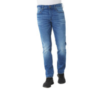 "Jeans ""3301 Straight Tapered"", Waschungenabel-Patch"