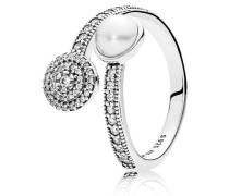 Ring Luminous glow Silber Zirkonia Kristallperle weiß 191044CZ