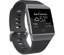 """Smartwatch """" Ionic"""", GPS, schwarz/silber"""