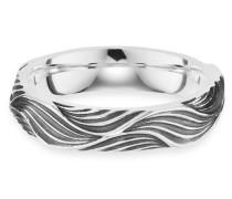 Ring 5/- Sterling Silber rhodiniert Wellen