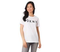 T-Shirt Marken-Schriftzug Wende-Pailletten