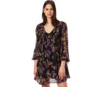 Kleid, floral, kurz, 1/1 Arm,