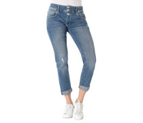 Jeans, Relaxed Fit, Destroyed-Details, Baumwoll-Stretch