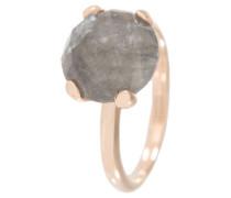 Damenring, Bronze, Quarz, , rosévergoldet, WSBZ00013GR