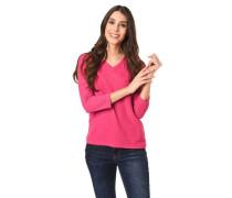 Shirt 3/4-Arm Strukturmuster V-Ausschnitt
