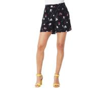 Shorts Krepp-Stoff Falten-Design Gummibund Blumenmuster