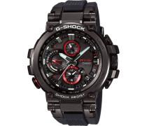 "Chronograph G-Shock ""MTG-B1000B-1AER""."