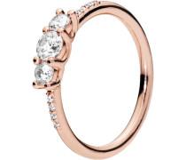 """Ring Sparkling Elegance """"186242CZ"""",  ROSE, 54"""