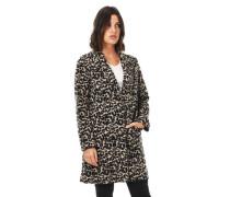 Mantel, Woll-Anteileoparden-Muster, Reverskragen