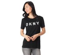 T-Shirt, Marken-Schriftzug, Wende-Pailletten