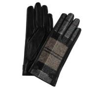 Handschuhe Leder Wolle Karo