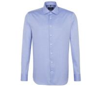 Businesshemd, Tailored Fit, Strukturmuster, tailliert, Baumwolle