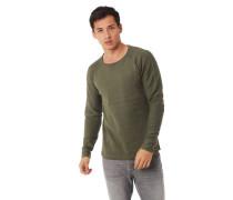 Pullover Baumwolle Rundhalsausschnitt Zier-Nähte