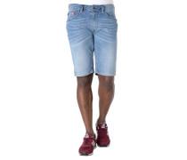 Jeans-Shorts Regular Fit Knitterfalten leichter Used-Look