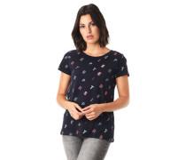 T-Shirt, Buchstaben-Print, Bauwolle
