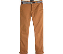 "Chino-Hose ""Stuart"" mit Gürtel Regular Slim Fit W33/L34"