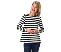 Sweatshirt, weite Passform, elastisch, gestreift