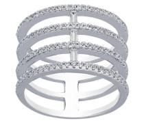 Ring, 4-reihig, 925er Sterling , Zirkonia