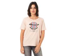 T-Shirt Front-Print Rundhalsausschnitt Baumwolle