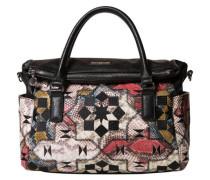 Handtasche Musaik-Muster Reptillederoptik