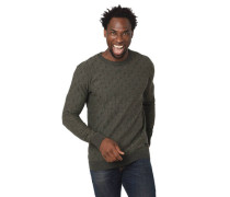 Pullover, Struktur-Muster, Rundhalsausschnitt, meliert