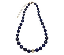 Collier Messing vergoldet mit Lapis