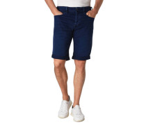 Jeans-Shorts Umschlag Knopf-Verschluss