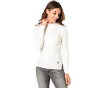 Pullover, gerippt, Turtle-Neck, für Damen, creme