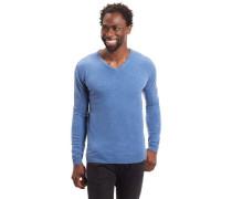 Pullover, unifarben, V-Ausschnitt, reines Kaschmir