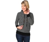 Sweatshirt, Kapuze, gestreift , für Damen, 901 -white