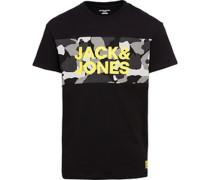 T-Shirt mit Army-Print und Logo M