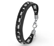 Armband Leder und Edelstahl