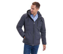 Klassische Jacke, abnehmbare Kapuze, meliert, diverse Taschen