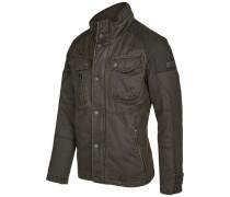 Jacke, Reißverschlusstaschen, garment-washed Look, für Herren, taupe, 54