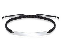 Armband Cool Geo Rechteck Knoten Nylon 5 Sterling