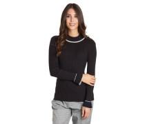 Pullover Glockenärmel gerippt elastisch