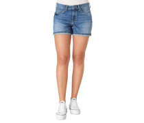 Jeans-Shorts Baumwoll-Mix Waschung Used-Look